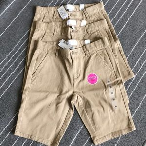 The Children's Place Bottoms - 3 NWT khaki Bermuda shorts uniforms